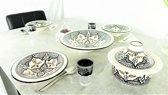 Complete Marokkaanse handgemaakte en handbeschilderde (couscous) serviesset