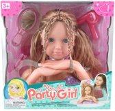 Party Girl Kaphoofd met Accessoires - 28 Cm