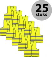Veiligheidshesje - Veiligheidsvest - Volwassene - Geel - 25 stuks