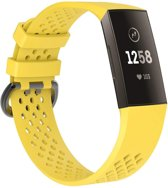 watchbands-shop.nl Siliconen bandje - Fitbit Charge 3 - Geel - Large