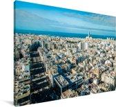 Overzicht over de Marokkaanse stad Casablanca Canvas 30x20 cm - klein - Foto print op Canvas schilderij (Wanddecoratie woonkamer / slaapkamer)