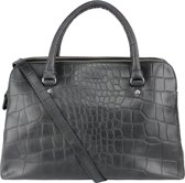 LouLou Essentiels Handtassen Bag Medium Vintage Croco Zwart