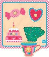 Lief! Lifestyle - Houten Knopjespuzzel - roze
