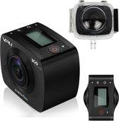 360 Graden Full HD Camera | VR-i ACTION CAM inclusief waterdichte behuizing.