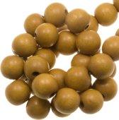 Houten Kralen Vintage Look (6 mm) Olive (280 stuks)