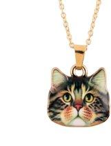 24/7 Jewelry Collection Kat Ketting - Goudkleurig