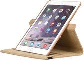 Ntech - nieuwe iPad 9.7 (2018) / (2017)  Hoes   Case   Cover   360° draaibaar Multi stand   Champagne Goud