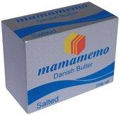 Mamamemo Deense Boter Hout 6 Cm Zilver/blauw