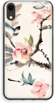 iPhone XR Transparant Hoesje (Soft) - Japanse bloemen