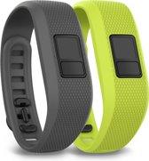 Garmin Vivofit 3 - Siliconen Activity Tracker Bandjes - Grijs en Groen - Regular