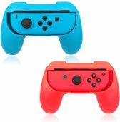 KELERINO. Joy-Con Grip Kit Set voor Nintendo Switch Hand Grips - Rood / Blauw