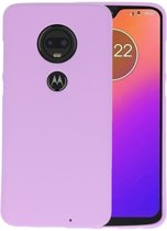 Color TPU Hoesje voor Motorola Moto G7 / G7 Plus Paars