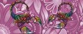 Fotobehang Scorpions Flowers Abstract Colours | PANORAMIC - 250cm x 104cm | 130g/m2 Vlies