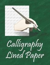 Calligraphy Lined Paper: Handwriting Lettering Practice Pad for Beginners.
