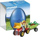 Playmobil Jongen met speelgoedtractor - 4943