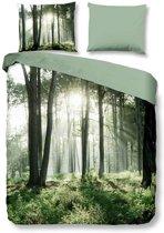 Snoozing Forest - Dekbedovertrek - Eenpersoons -140x200/220 cm + 1 kussensloop 60x70 cm - Green
