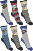 Paw patrol sokken maat 31/34 6 paar