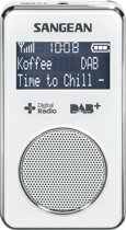 Sangean DPR-35 radio Draagbaar Analoog & digitaal Wit
