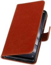 Bruin Pull-Up Booktype Hoesje voor XiaoMi Mi 8 Lite
