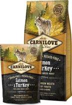 Carnilove Large breed granenvrij hondenvoer Zalm & Kalkoen met 70% vlees 12 kg + 1,5 kg gratis