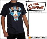 SIMPSONS - T-Shirt Men Dark Grey Krusty Joker (S)