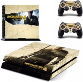 Uncharted 4: A Thief's End - PlayStation 4 sticker - PS4 console skin bundel