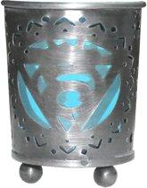Keel Chakra Votive Holder theelicht houder  Blauw Glas