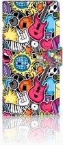 Samsung Galaxy Note 9 Uniek Boekhoesje Punk Rock