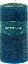 Riverdale Pillar - Geurkaars- groen 7.5x15cm