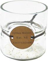 Riviera Maison - Riviera Maison Amsterdam Hurricane - S - Waxinelichtjeshouder - Glas