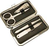 Luxe Manicure Set voor op Reis Inclusief Reis Etui - 5-Delig   Nagelschaar   Nagelschaartje   Nagelvijl   Nagels Knippen   Nagelknipper   Pincet   Beauty   Nagelverzorging   Manicureset