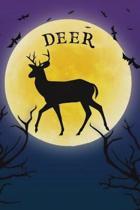 Deer Notebook Halloween Journal
