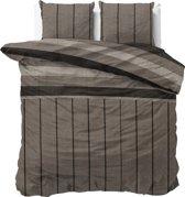 Sleeptime Katoen Kees - Dekbedovertrekset - Lits-Jumeaux - 240x200/220 + 2 kussenslopen 60x70 - Taupe