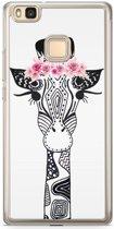 Huawei P9 Lite siliconen hoesje - Giraffe