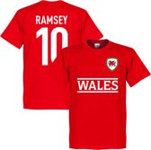 Wales Ramsey 10 Team T-Shirt - Rood - S