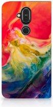 Nokia 8.1 Bookcase Watercolor Dark