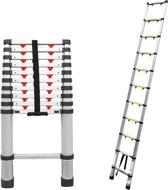Aluminium telescopische ladder semi-pro 3,2 meter
