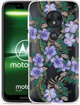 Moto G7 Play Hoesje Purple Flowers