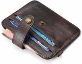 Platte portemonnee, creditcard houder leer bruin