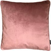 Velvet Piped Kussenhoes | Fluweel - Polyester | 45 x 45 cm | Bies Oudroze