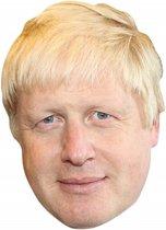 Fun Brexit Boris Johnson verkleed masker - Groot Brittannie/Verenigd Koninkrijk feestartikelen - Feest gezichtsmasker van karton