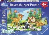 Ravensburger Disney Bambi Mijn vriend Bambi Twee puzzels van 24 stukjes