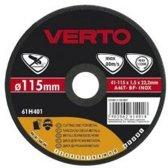 Verto 61H405 Doorslijpschijf Metaal 125x22,2x1,0mm