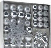 45-Delige plastic kerstballen Set Zilver