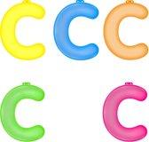 Opblaas letter C  Roze