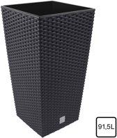 Bloempot Bloembak Rato Square 40x40x75cm ANTRACIET Prosperplast