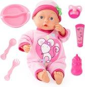 Afbeelding van Bayer Babypop - First Words Babydoll - Roze - 33 cm speelgoed