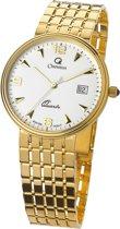 Orphelia - MON-7079-Swiss Movement- Heren Horloge Compleet 18 Karaat Geel  Goud