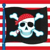 16 Beverage Napkins Pirate Party 25 x 25 cm