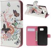 Samsung galaxy S6 vlinders kleuren agenda wallet hoesje